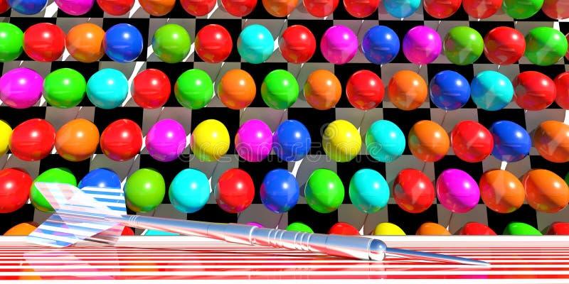 气球比赛 库存例证