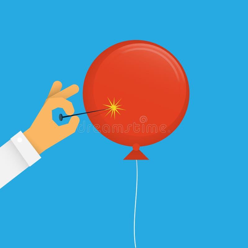 气球流行音乐 皇族释放例证