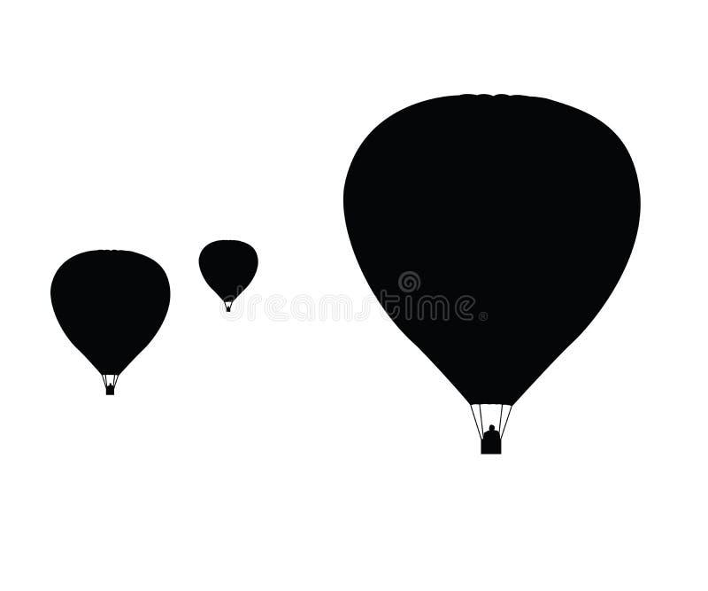 气球热向量 库存例证