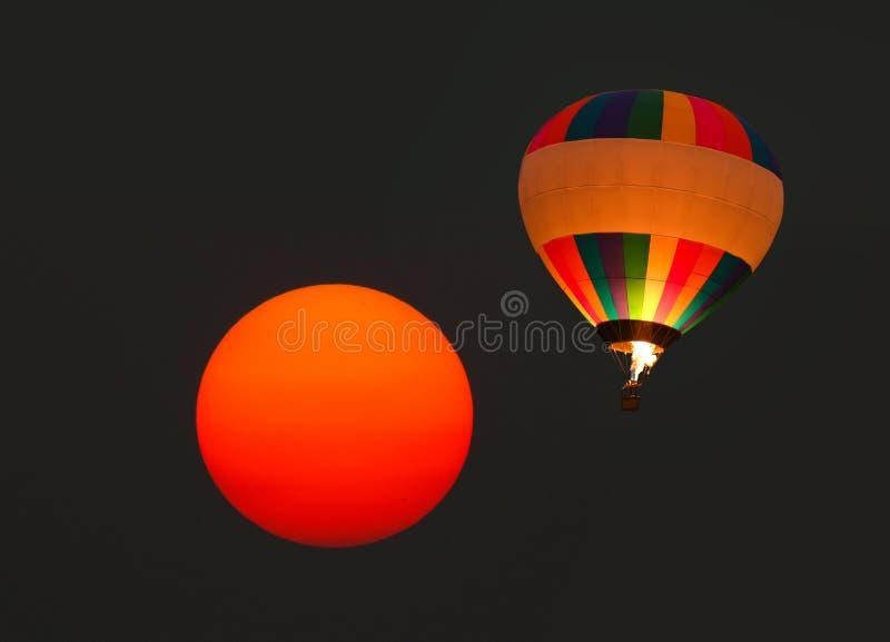 气球热星期日 库存照片