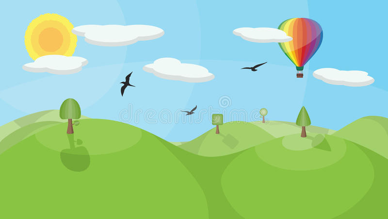 气球热横向 向量例证