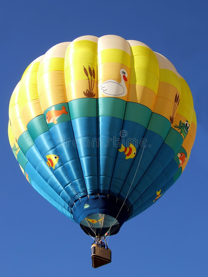 气球热池塘 库存照片