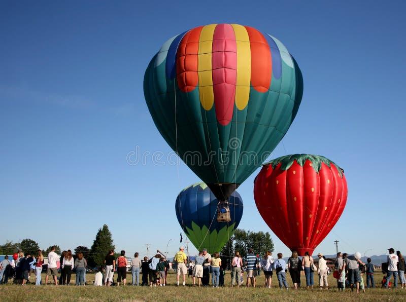 气球热集会 库存图片