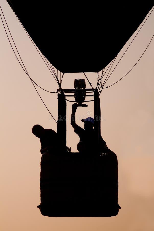 气球热sillouette 库存照片