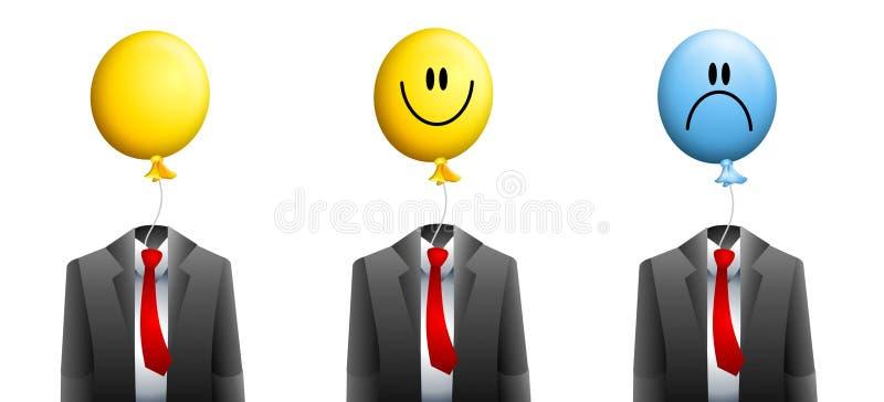 气球生意人表面 向量例证