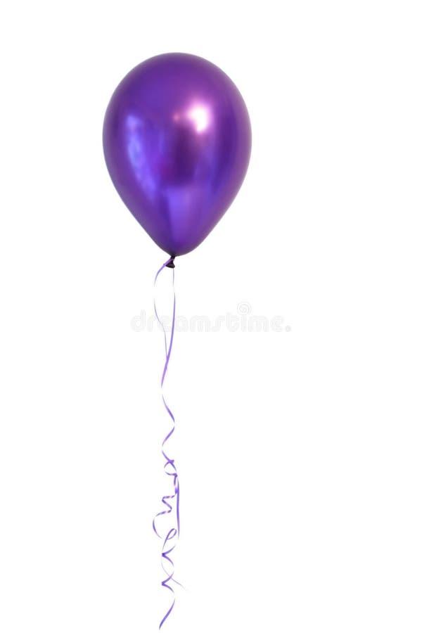 气球紫色 免版税库存照片