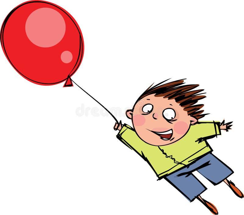 气球红色 库存例证