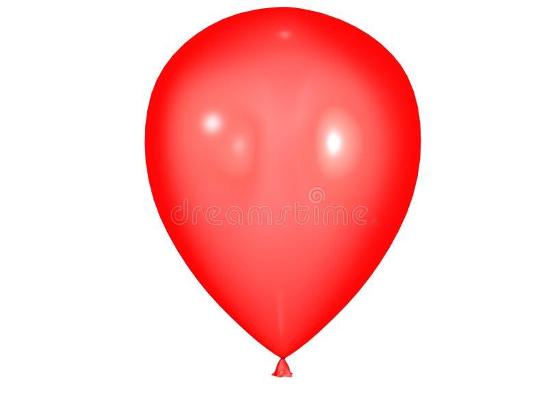 气球红色 皇族释放例证