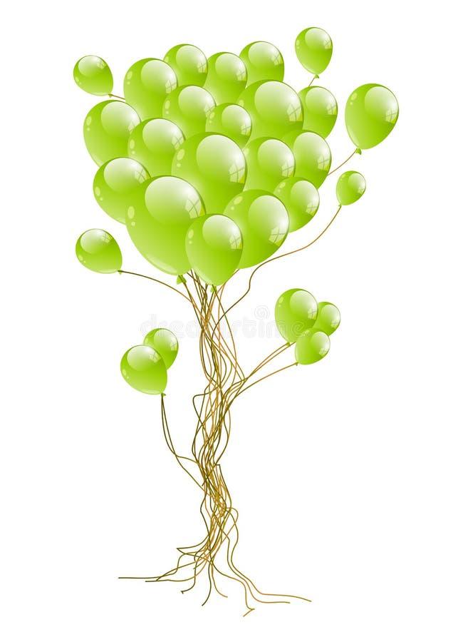 气球结构树 向量例证