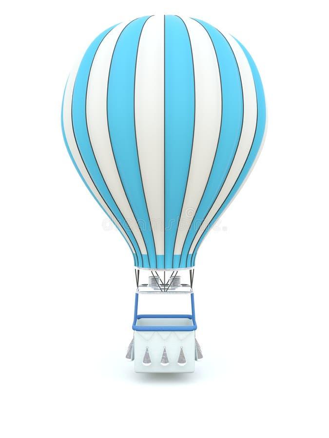 气球蓝色热 皇族释放例证