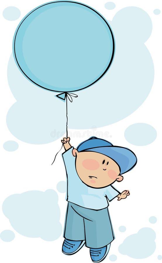 气球蓝色 皇族释放例证