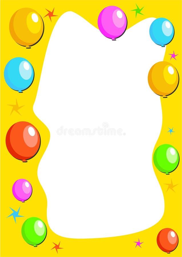 气球边界 库存例证