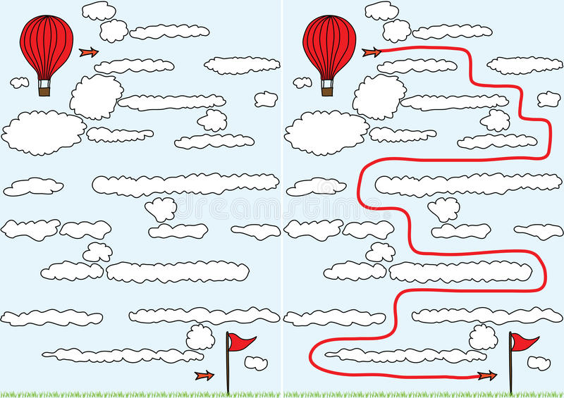 气球迷宫 向量例证