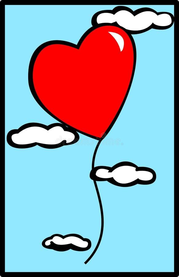 气球重点天空华伦泰向量 向量例证