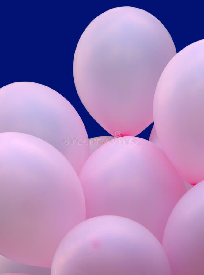 气球集会粉红色 库存图片