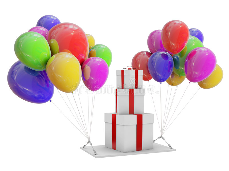 气球颜色礼品 库存照片