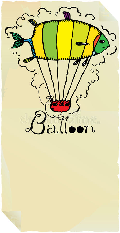 气球鱼印刷术 皇族释放例证
