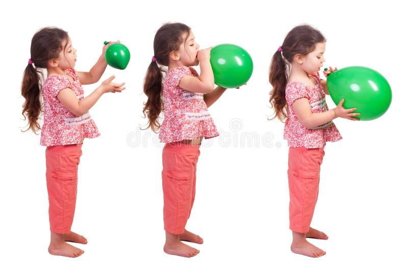 气球鼓起 免版税库存图片