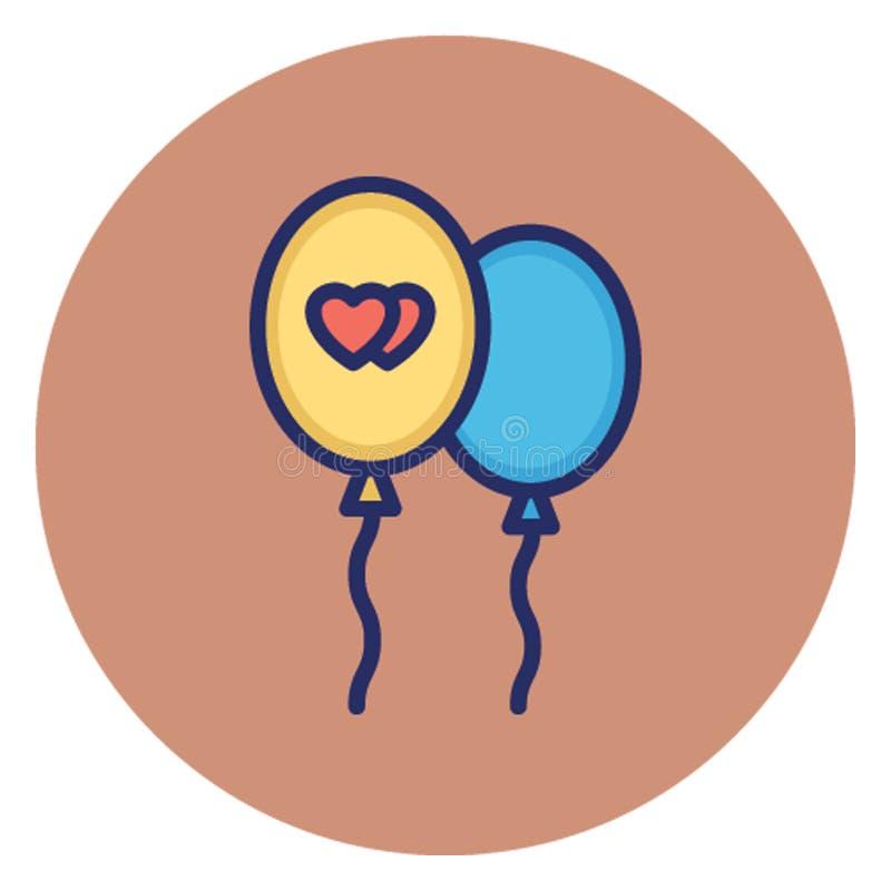气球,庆祝导航可能容易地编辑的象 向量例证