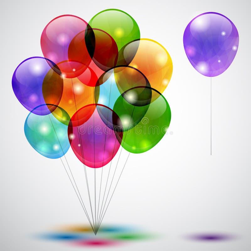 气球 向量例证