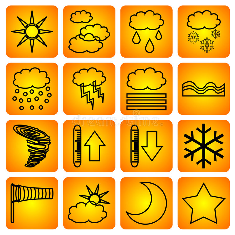 气象符号 库存例证