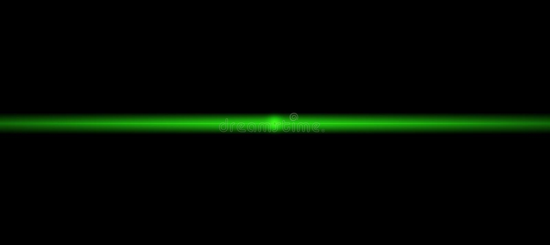 氖发光的绿线 一刹那光 与被弄脏的发光的光的抽象例证 与发光的火光的背景 宽形式 库存例证