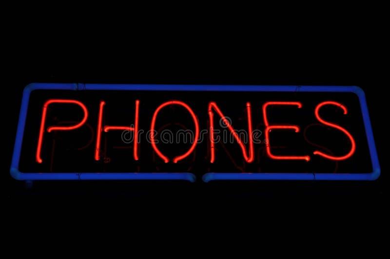 氖给符号打电话 免版税库存照片