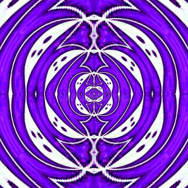 氖转动与发光的圆框架的例证在淡紫色颜色的紫外作用波纹与作用pixelisation 皇族释放例证