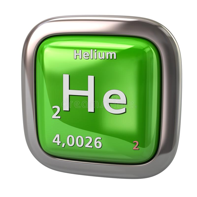 氦气他从周期表绿色象的化学元素 向量例证