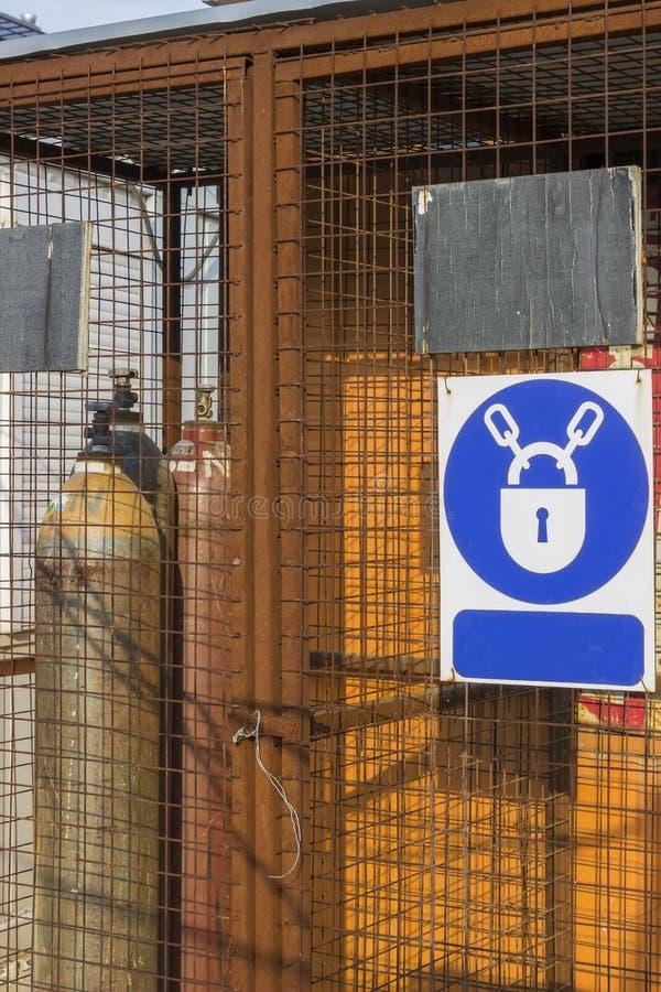 氧乙决圆筒的笼子 库存照片