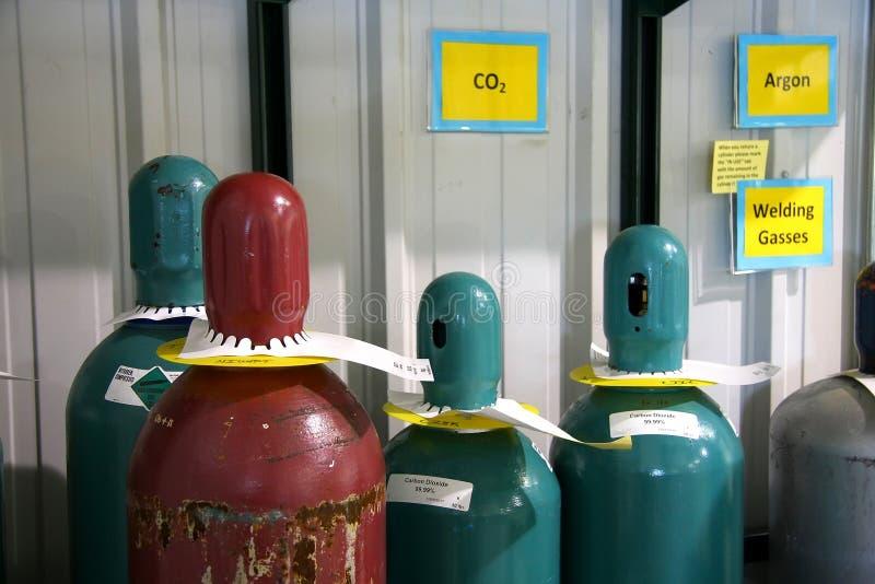 氮气瓶 免版税库存照片