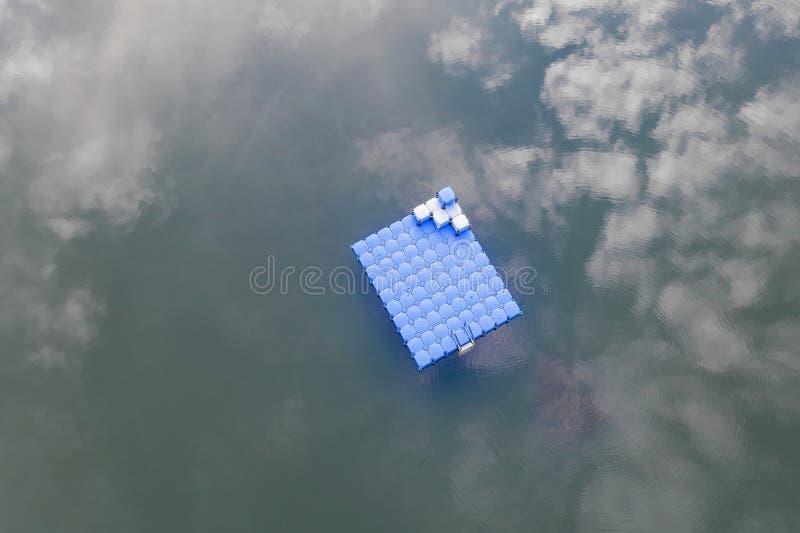 水上游乐岛 库存照片