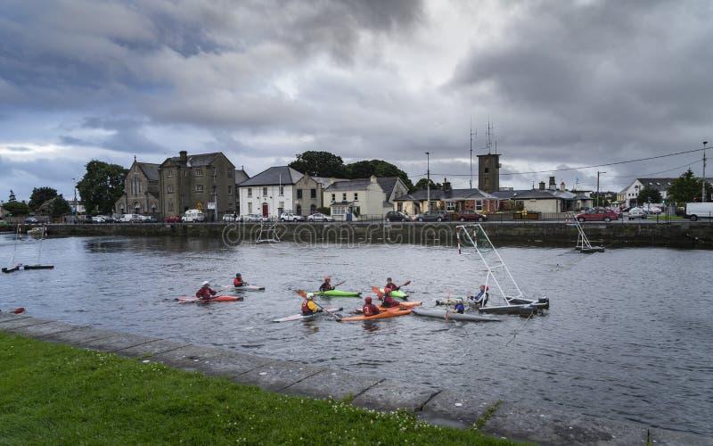 水上运动在戈尔韦在爱尔兰 免版税库存照片