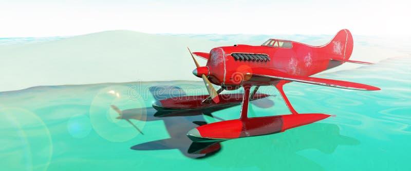 水上飞机 3d回报 向量例证