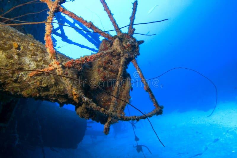 水下博内尔岛的海难 库存照片