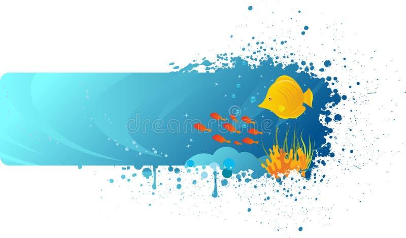 水下横幅的grunge 向量例证