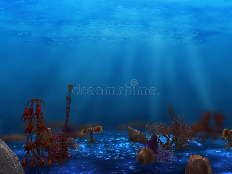 水下生活的工厂 向量例证