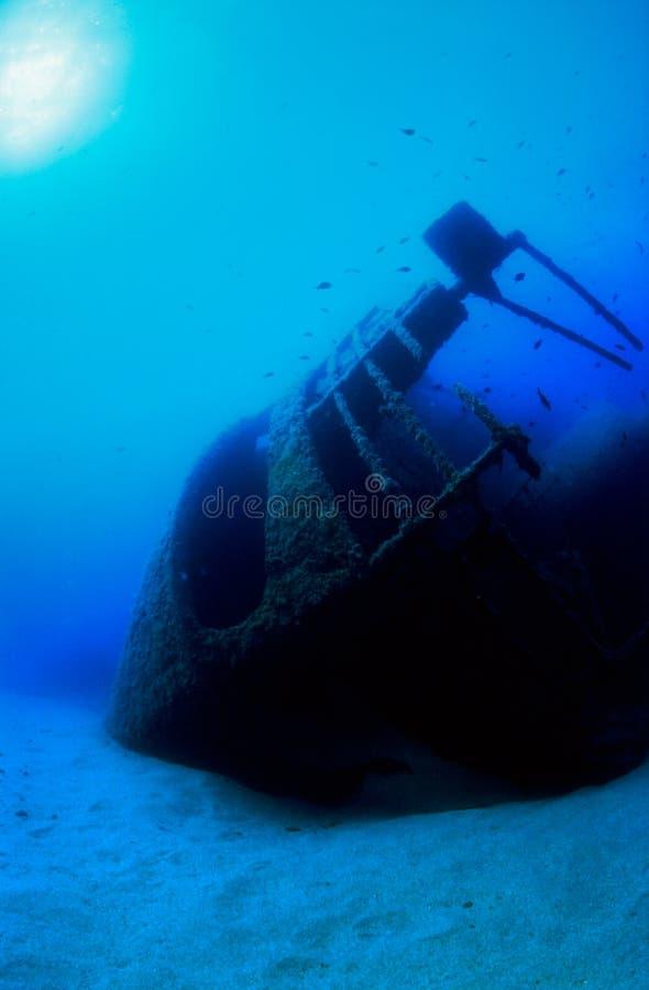 水下的击毁 免版税库存图片