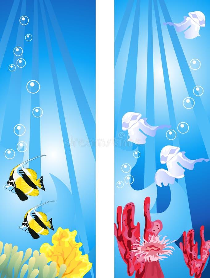 水下的场面 向量例证