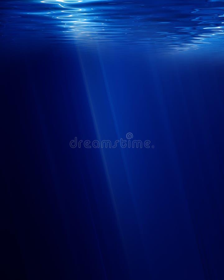 水下的场面 皇族释放例证