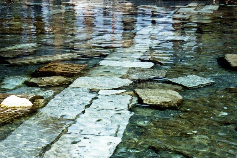 水下的废墟 库存图片