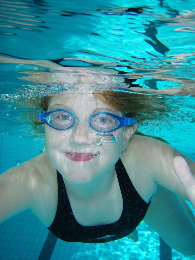 水下的微笑 库存照片