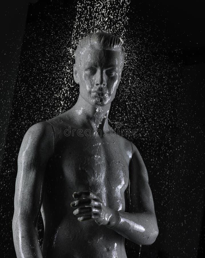 水下的时装模特 免版税库存照片