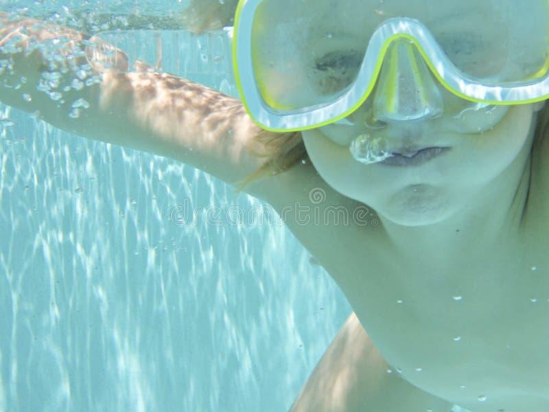 水下的泡影 库存图片