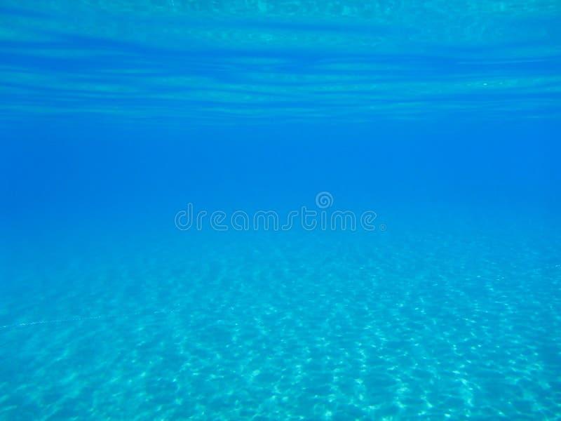水下的生活在Kolona双海湾基斯诺斯岛海岛基克拉泽斯希腊,爱琴海 库存图片