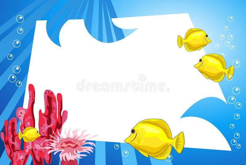 水下的生活 库存例证
