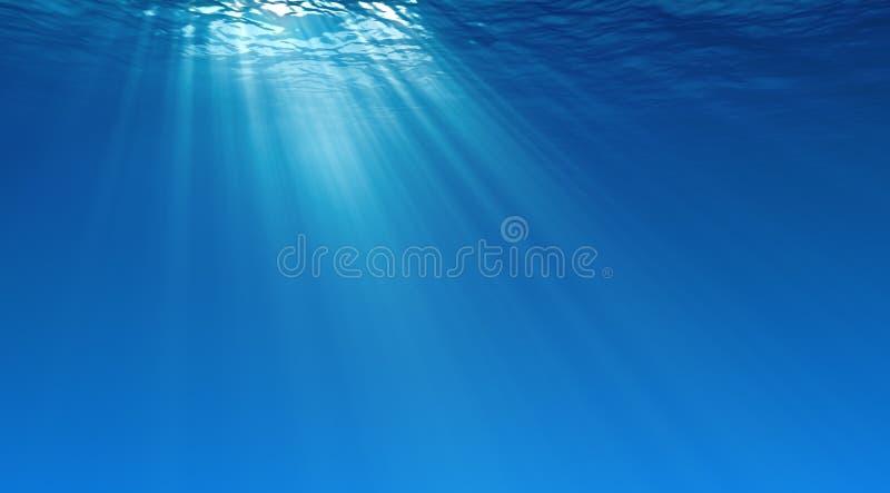 水下的背景 皇族释放例证