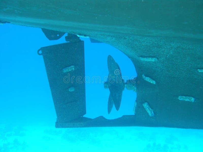 水下的船 图库摄影