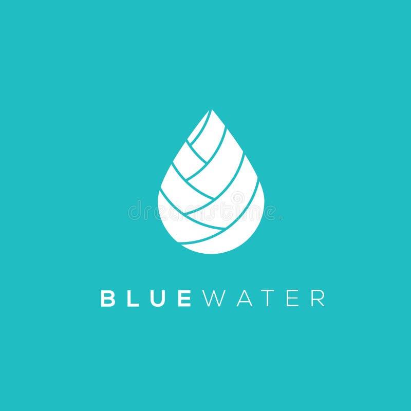 水下落传染媒介商标 水下落象 可用的下落例证向量水 向量例证