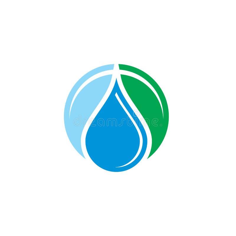 水下落液体eco商标 库存例证